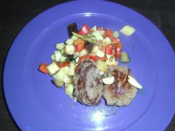 Lecker Gemüse mit Lammsteaks - Rezept