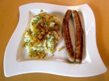 Bratwürste mit Mais-Kartoffel-Püree - Rezept