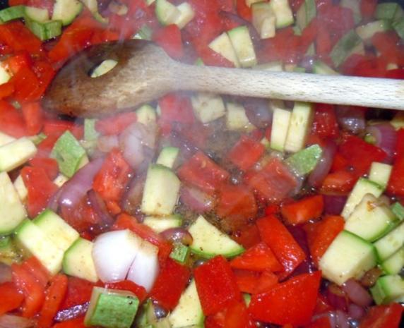 Lammhackbällchen-Gemüse-Ebly-Pfanne - Rezept - Bild Nr. 5