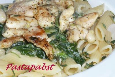 Gorgonzola-Hähnchen-Pasta - Rezept