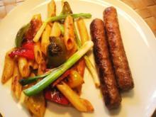 Gemüse-Nudeln all´ arrabiata mit buntem Paprika ... - Rezept