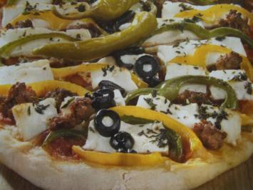Türkische Hack-Schafskäse-Pizza - Rezept
