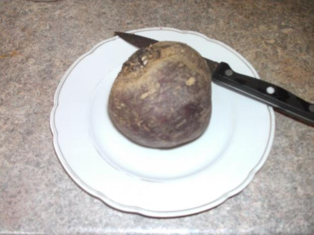 Salat: Feldsalat mit roter Beete - Rezept - Bild Nr. 3