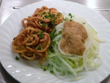 Kohlrabi - Spaghetti an Kartoffelnestern - - Rezept