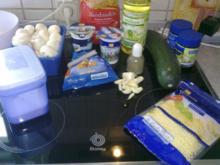 Nudelgratin mit Zucchini und Champignons - Rezept