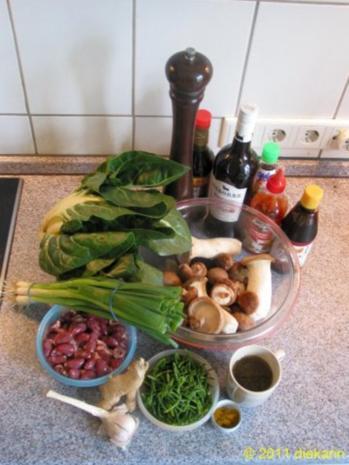 Hauptgericht - Wok- Pilze und Mangold - Rezept - Bild Nr. 2