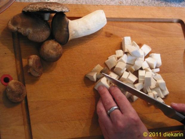 Hauptgericht - Wok- Pilze und Mangold - Rezept - Bild Nr. 3