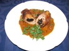Fleisch: Schnitzelröllchen mit Pflaumenfüllung - Rezept