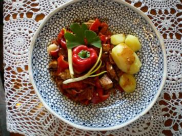 Hähnchen-Spitzpaprikapfanne - Rezept