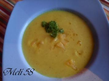 Suppen: Kohlrabi-Apfel Suppe mit Curry - Rezept