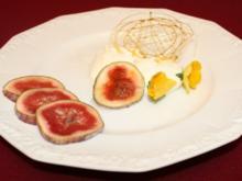 Ziegenkäse-Nocken mit karamellisierter Feige und Honig - Rezept