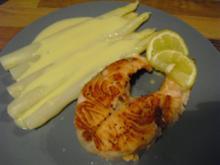 Lachssteak mit Spargel - Rezept