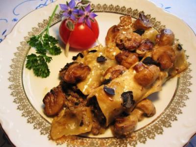 Edle Pilz-Cannelloni mit Champignons und Trüffeln ... - Rezept