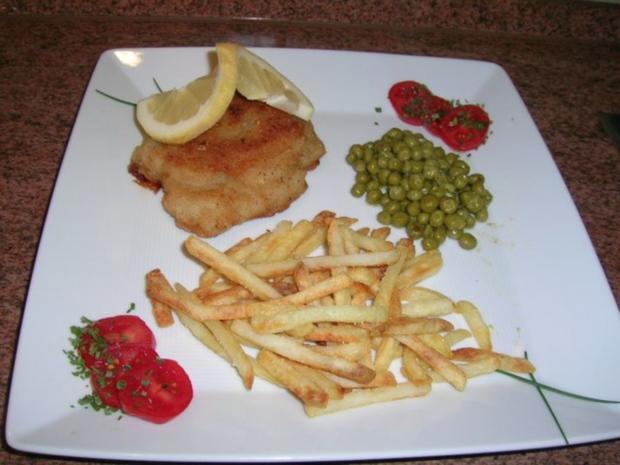 Cordon bleu (ganz klassisch) mit Erbsen und Pommes - Rezept - Bild Nr. 2