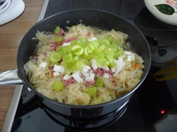 Gemüsebeilage :  Weintrauben - Sauerkraut - Rezept