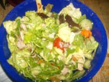 Bunter Salat mit Putenfleisch Resteverwertung vom Vortag - Rezept