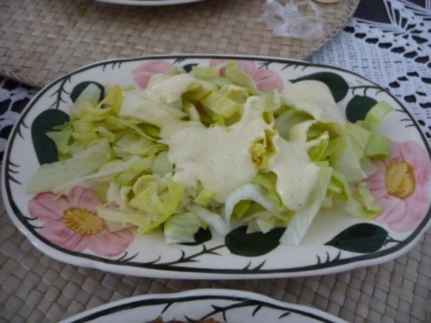 Salat mit joghurtdressing