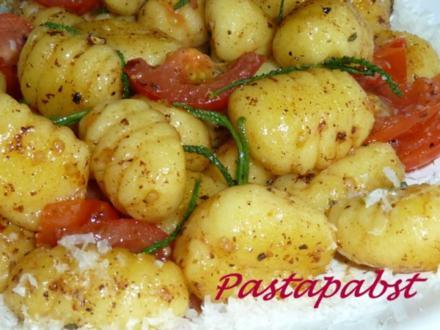 Gnocchis mit Olivenkraut - Rezept