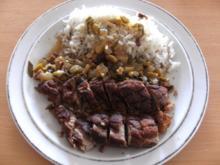 Fleisch: Entenbrust geschmort, mit Kräutern und Oliven - Rezept