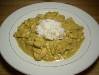 Chicken Korma mit Reis - Rezept