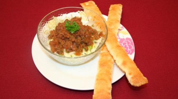 Gazpacho-Sorbet mit Brotsticks - Rezept
