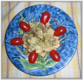 Deftiger Speck-Kartoffelsalat - Rezept