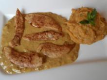 Scharfes Hähnchen zu Süßkartoffel - Bananen - Püree ... - Rezept