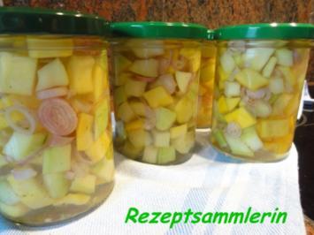 Diverses:   ZUCCHINI süß-sauer + pikant eingelegt - Rezept