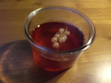 Johannisbeer-Gelee mit Sekt - Rezept