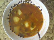 Bohnen suppe mit Kartoffeln - Rezept