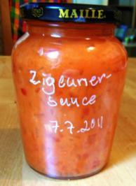 Zigeunersauce mit scharfem Senf - Rezept