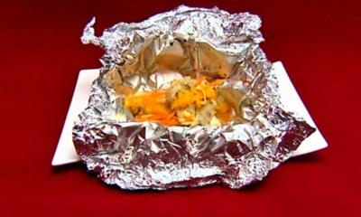 Fisch mit Tomaten, Karotten und Fenchel, Orangenfilets und Petersilienkartoffeln - Rezept
