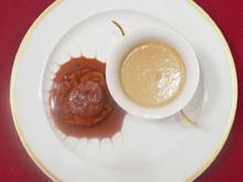 Schaumsüppchen vom Steinpilz mit karamellisierter Milchkalbsleber - Rezept