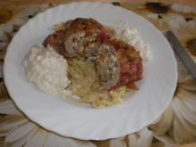 Gyros-Schnitzel-Rouladen zu Tsatziki - Rezept