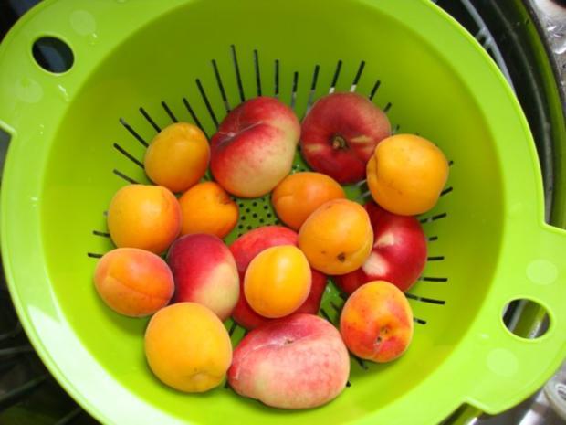 Aprikosen-Pfirsich-Mellisse-Minz Marmelade - Rezept - Bild Nr. 2