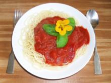Spaghetti mit Bloddy-Mary-Sauce - Rezept