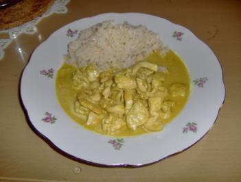 Putengeschnetzeltes in Currysoße - Rezept