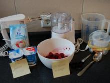 Joghurt Fruchteis, Joghurteis mit Früchten - Rezept