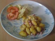 Gnocchi mit Käse und Speck - Rezept