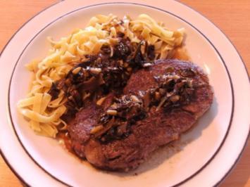 Fleisch: Filetsteak mit Pilzsauce - Rezept
