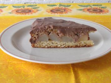 backen / Kuchen: Birne - Helene - Kuchen - Rezept