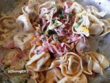Tortellini-Schinken-Pfanne mit Paprika - Rezept