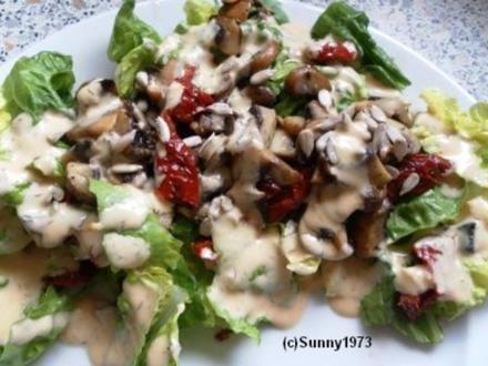 Salat mit getrockneten Tomaten - Rezept