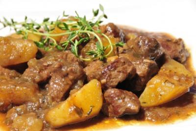 Stew vom Angusrind mit Guiness - Rezept