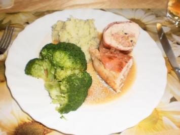 Gefüllte Hähnchenfilets mit Broccoli - Rezept