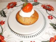 Erdbeermuffins mit Sahne - Rezept