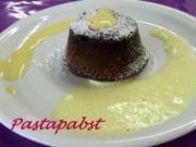 Fondant au chocolat mit Zabaione - Rezept
