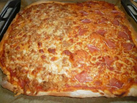 Familienpizza á la Bella - Rezept