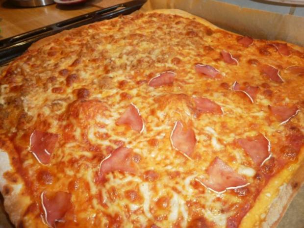 Familienpizza á la Bella - Rezept - Bild Nr. 6