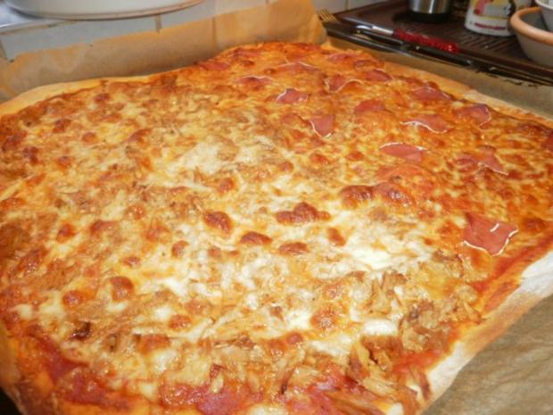 Familienpizza á la Bella - Rezept - Bild Nr. 7
